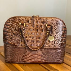 Rare Brahmin Vivian Dome Leather Satchel
